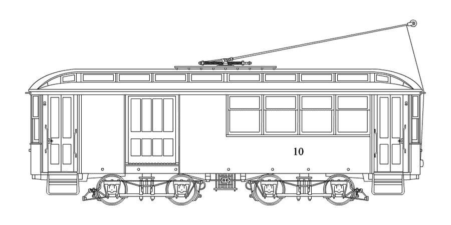 Trolley Drawing by ham549