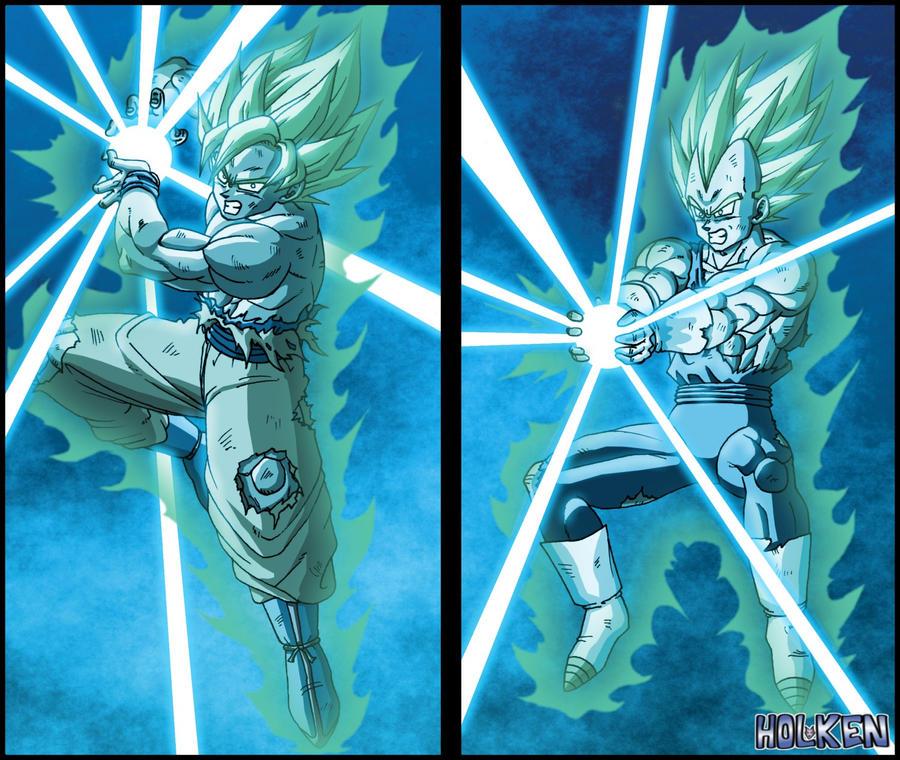 Goku VS Vegeta By DBZwarrior