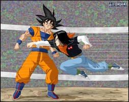 -DBM- Goku VS Android 17 by DBZwarrior