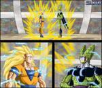-DBM- Goku ssj3 VS Cell