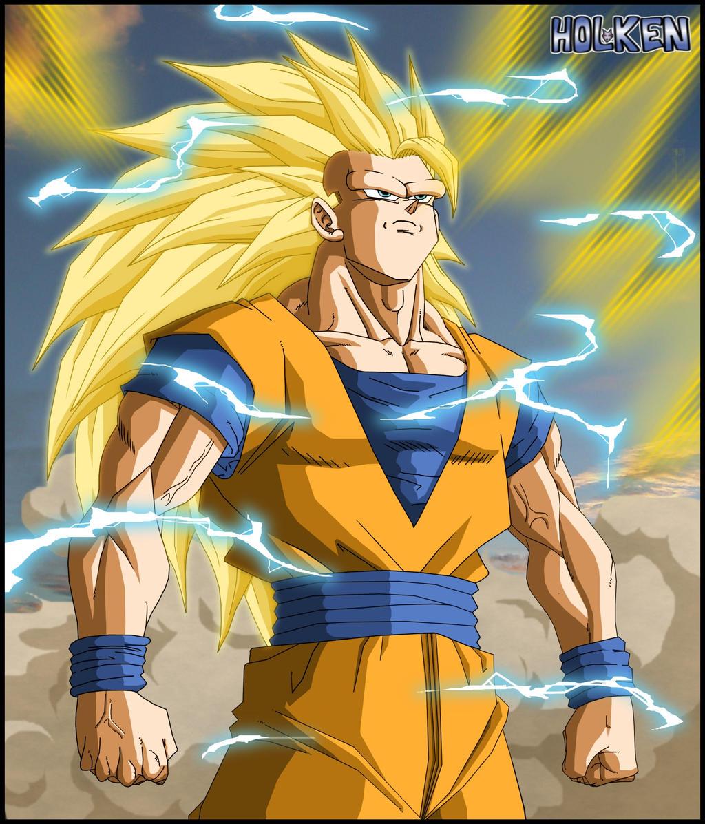 Son Goku ssj3 by DBZwarrior