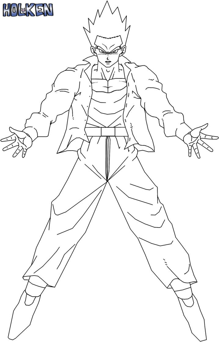 Dbs Warriors Gohan - Free Coloring Pages