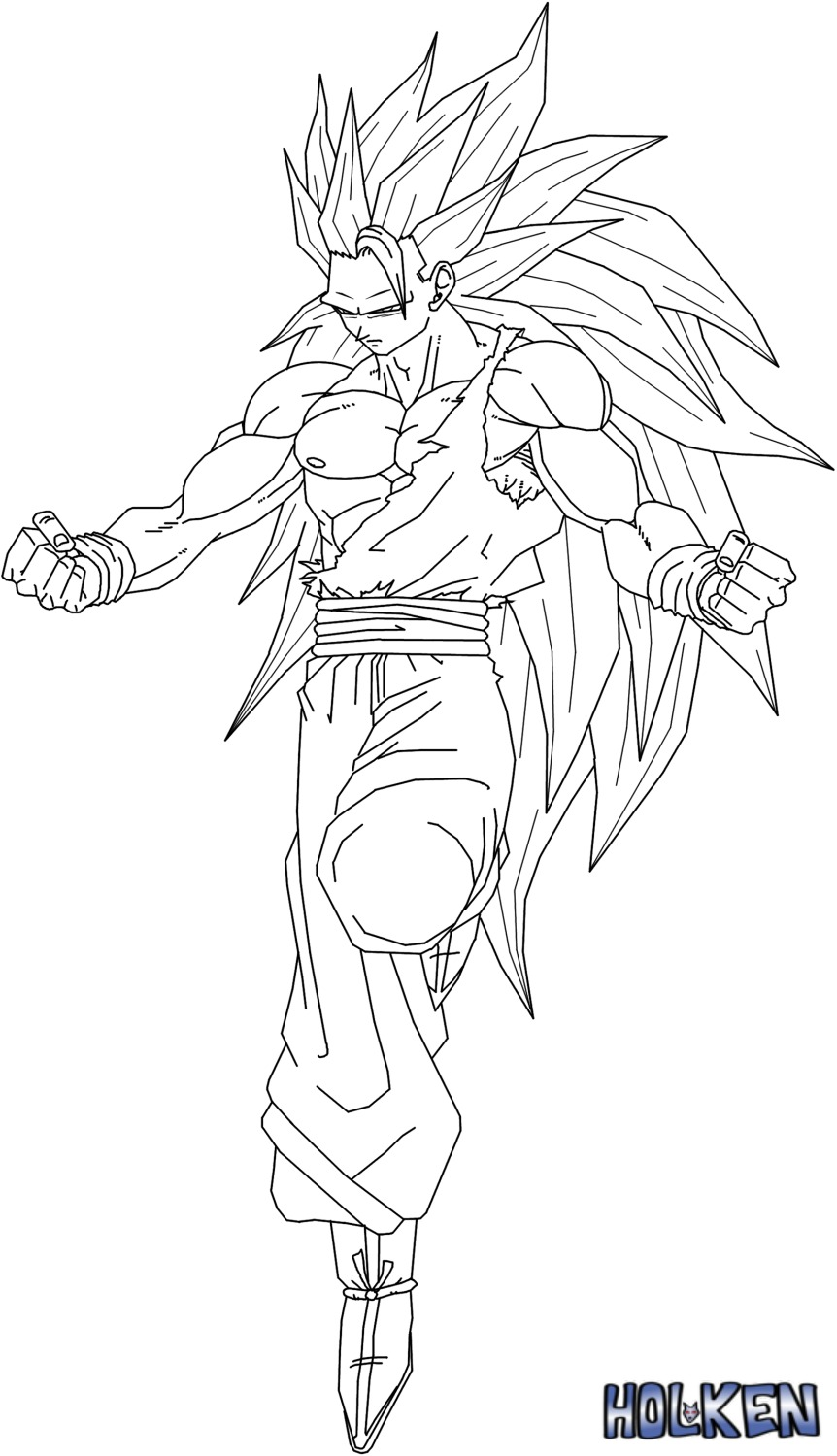 Evil goku free colouring pages for Goku super saiyan 5 coloring pages