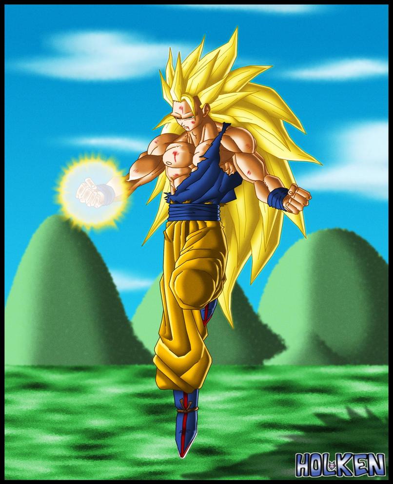 Goku ssj3 colored version by DBZwarrior