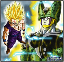 Gohan ssj2 and Cell by DBZwarrior
