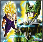 Gohan ssj2 and Cell