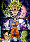 -DBM- Goku's enemies - Colored by BK-81
