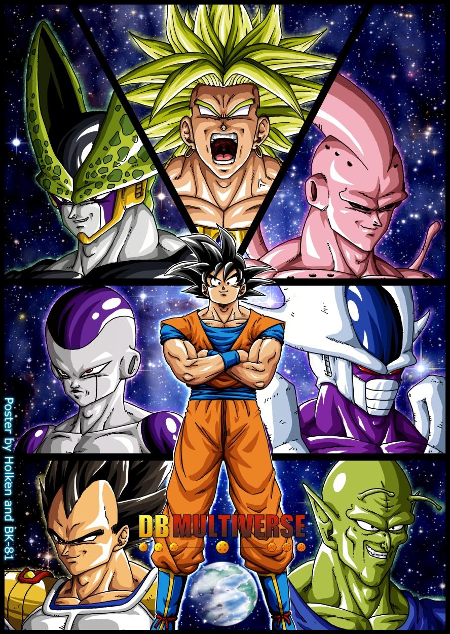 -DBM- Goku's enemies - Colored by BK-81
