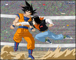 -DBM- goku VS android 17 -V2-
