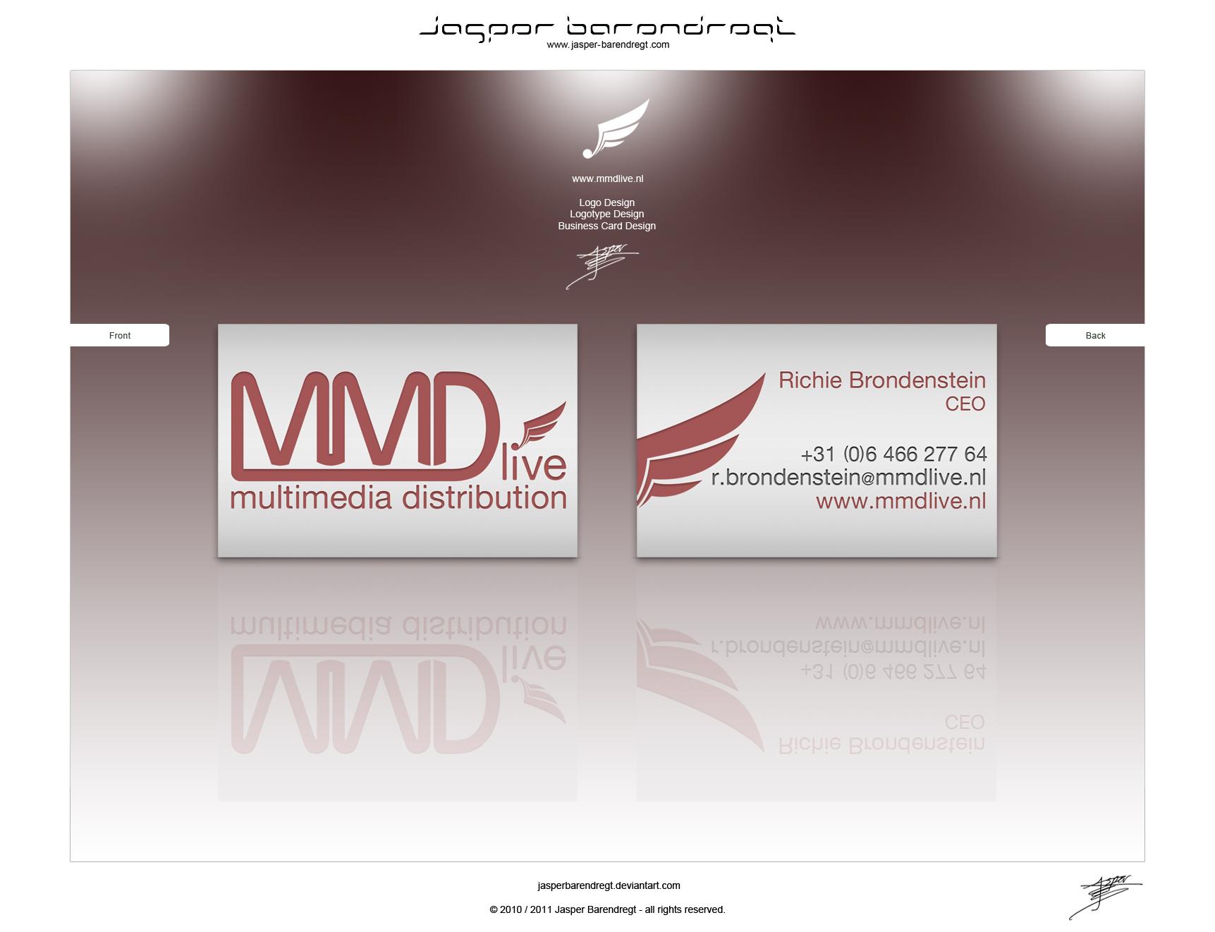 MMDlive BUSINESS CARD DESIGN by JasperBarendregt