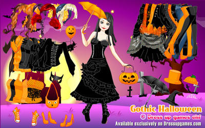 vity dream 199 100 gothic halloween by dressupgamescom - Free Halloween Dress Up Games