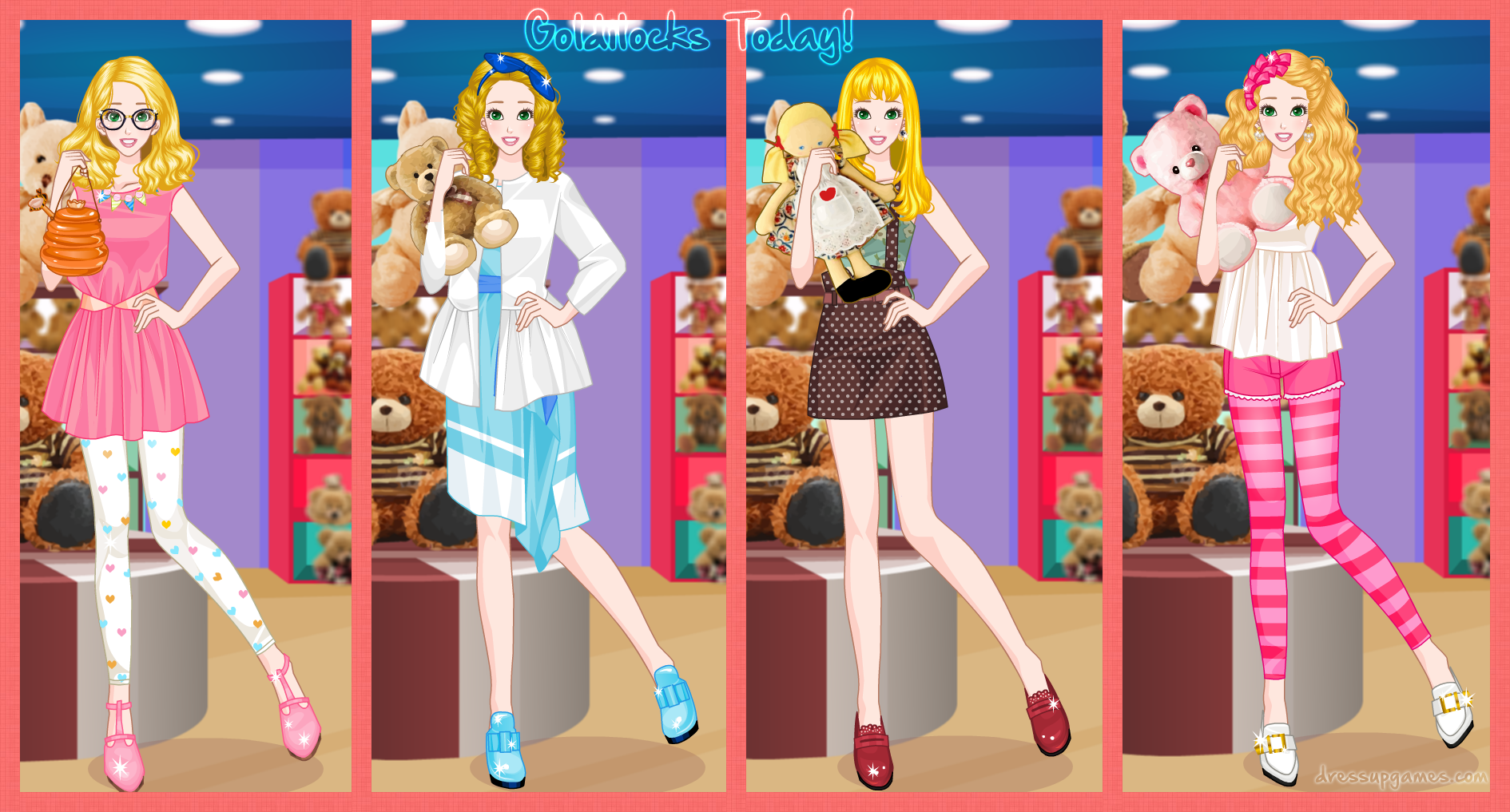 Goldilocks Today Dress Up Game By DressUpGamescom On