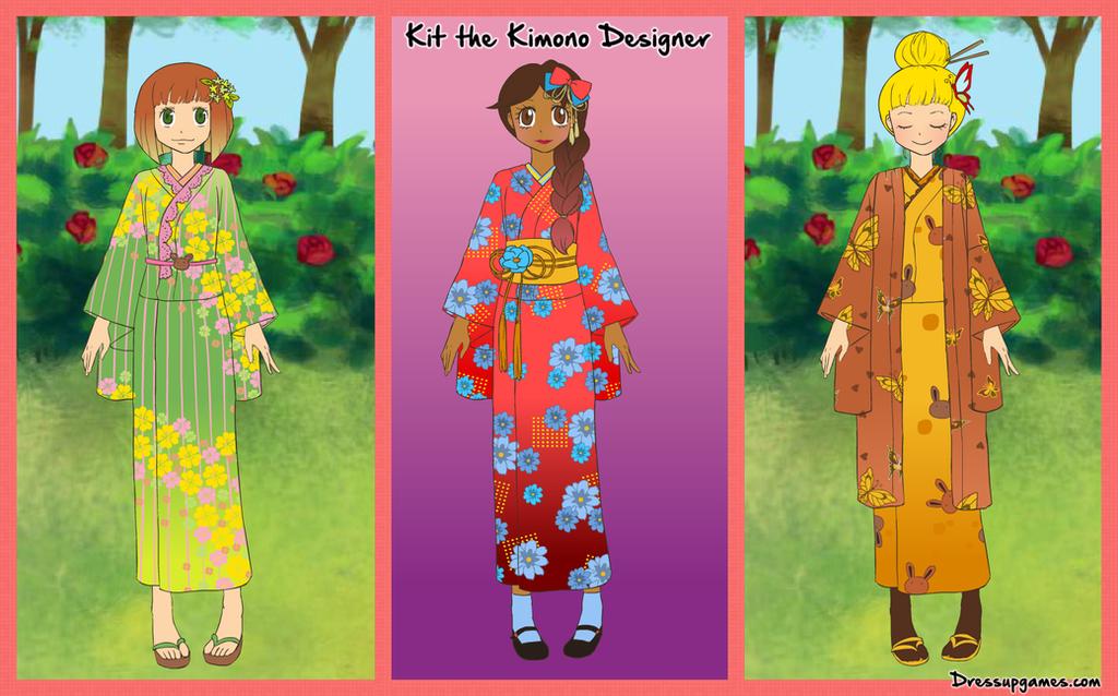 Kit the Kimono Designer Game by DressUpGamescom