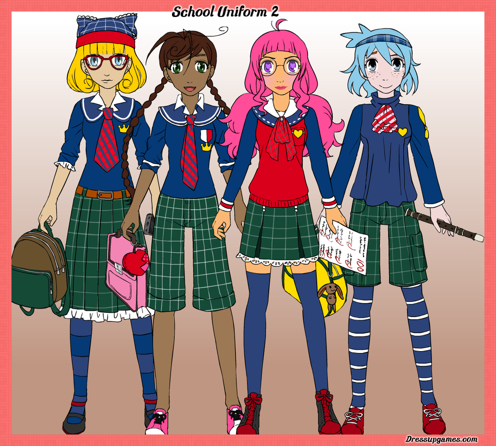 Character Design Generator Game : School uniform creator version by dressupgamescom on