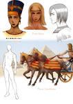 Egyptian Characters by AiriKanda