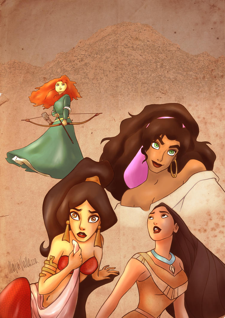 Disney Princesses: Stand your Ground by AiriKanda