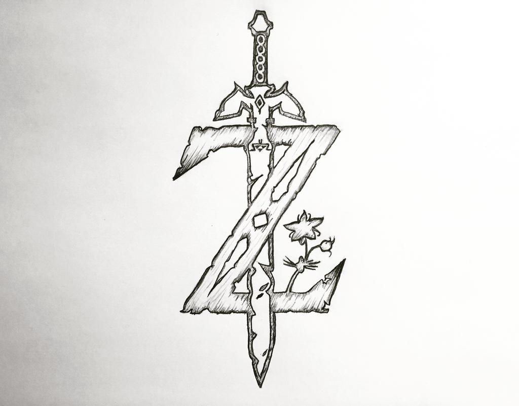 The Legend Of Zelda Breath Of The Wild Z Logo By