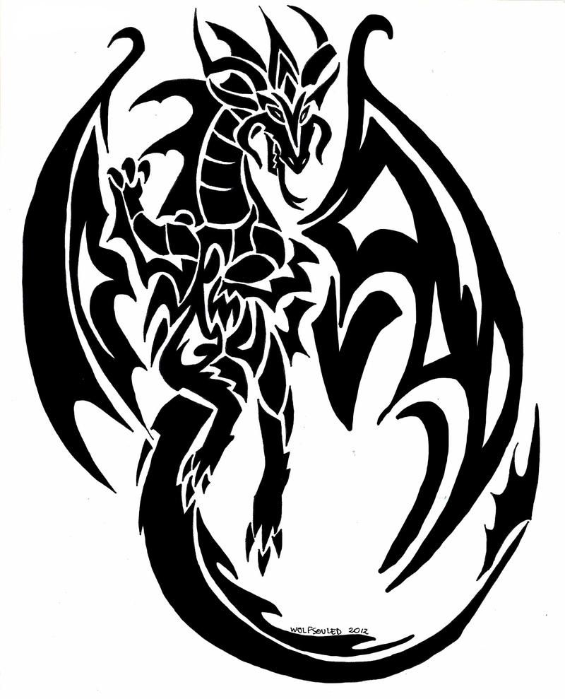 & tattoo designs phoenix dragon tribal of Tribal Commision  DeviantArt Tattoo on  by Dragon wolfsouled