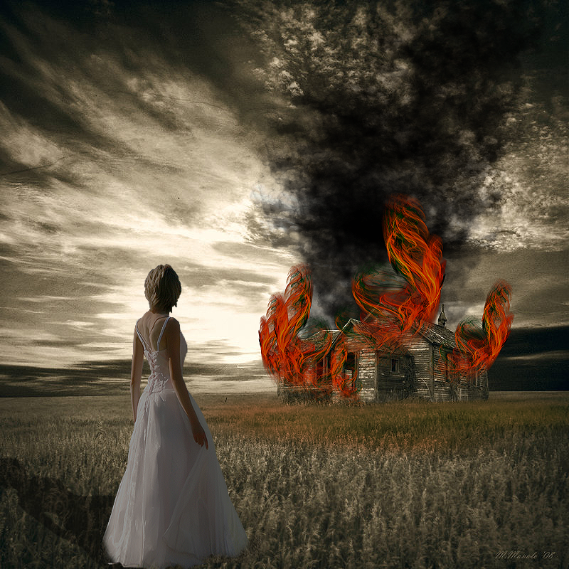 burning dreams digital art
