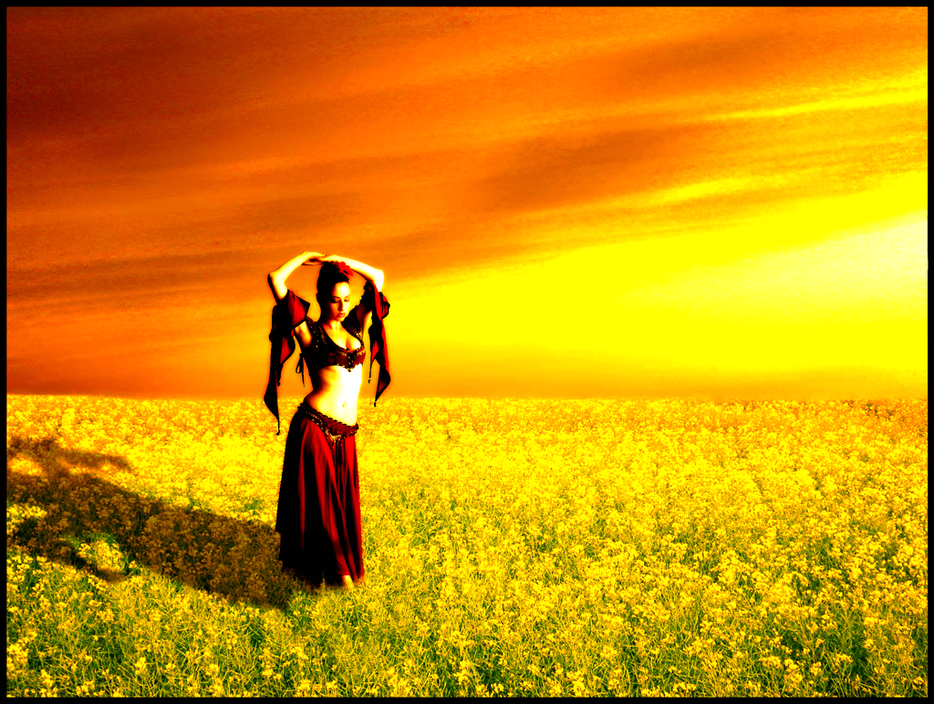 field dancer photo manipulation