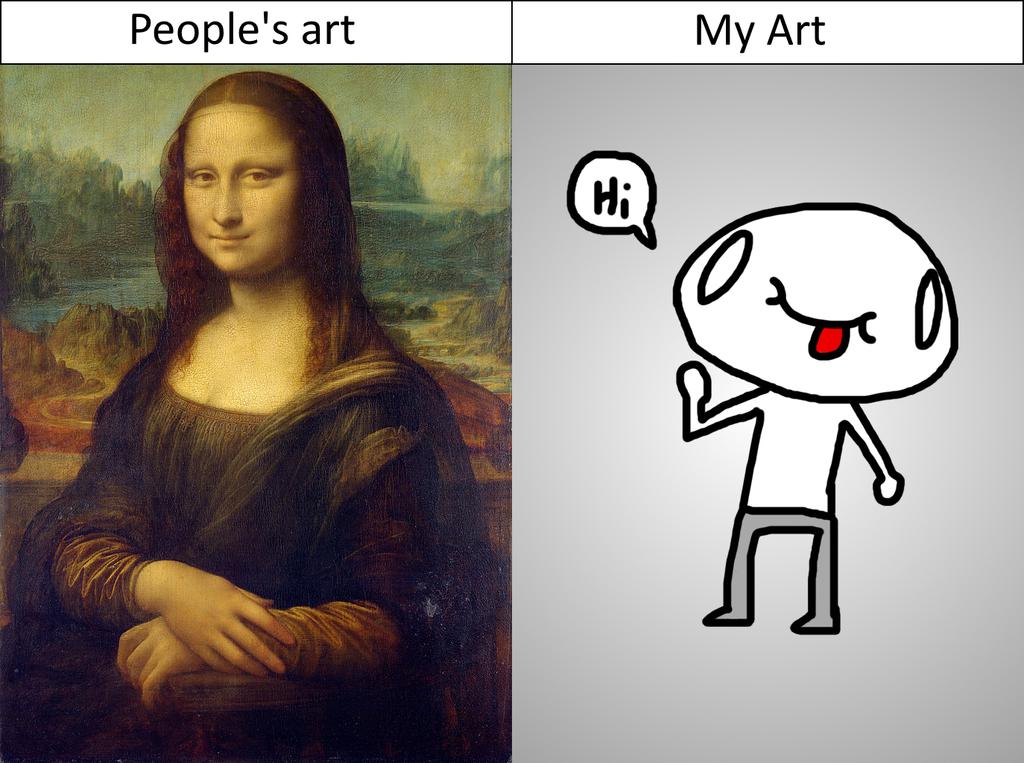 People's art vs My art by EnvyMan35