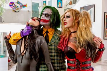 Joker Harley Quinn and Catwoman