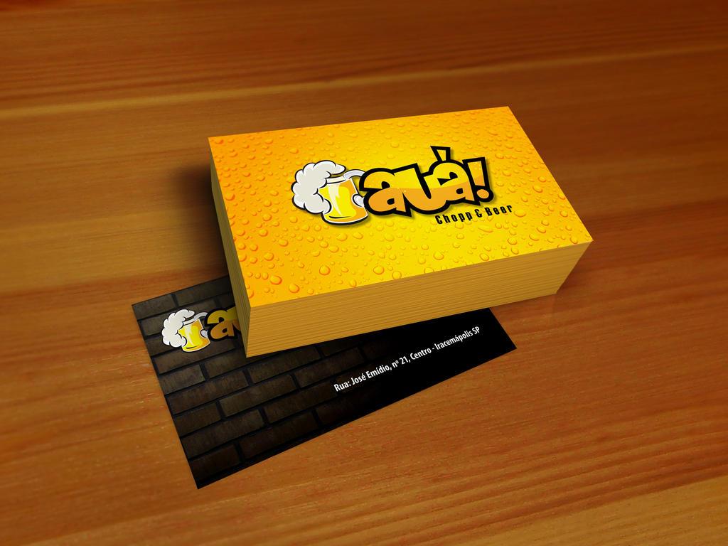 Aua Chopp and Beer Business Card by brunosampaioart on DeviantArt