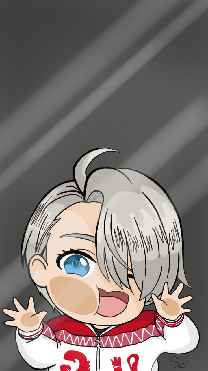 Yuri On Ice Victor Phone Wallpaper By Awttani Blue On Deviantart