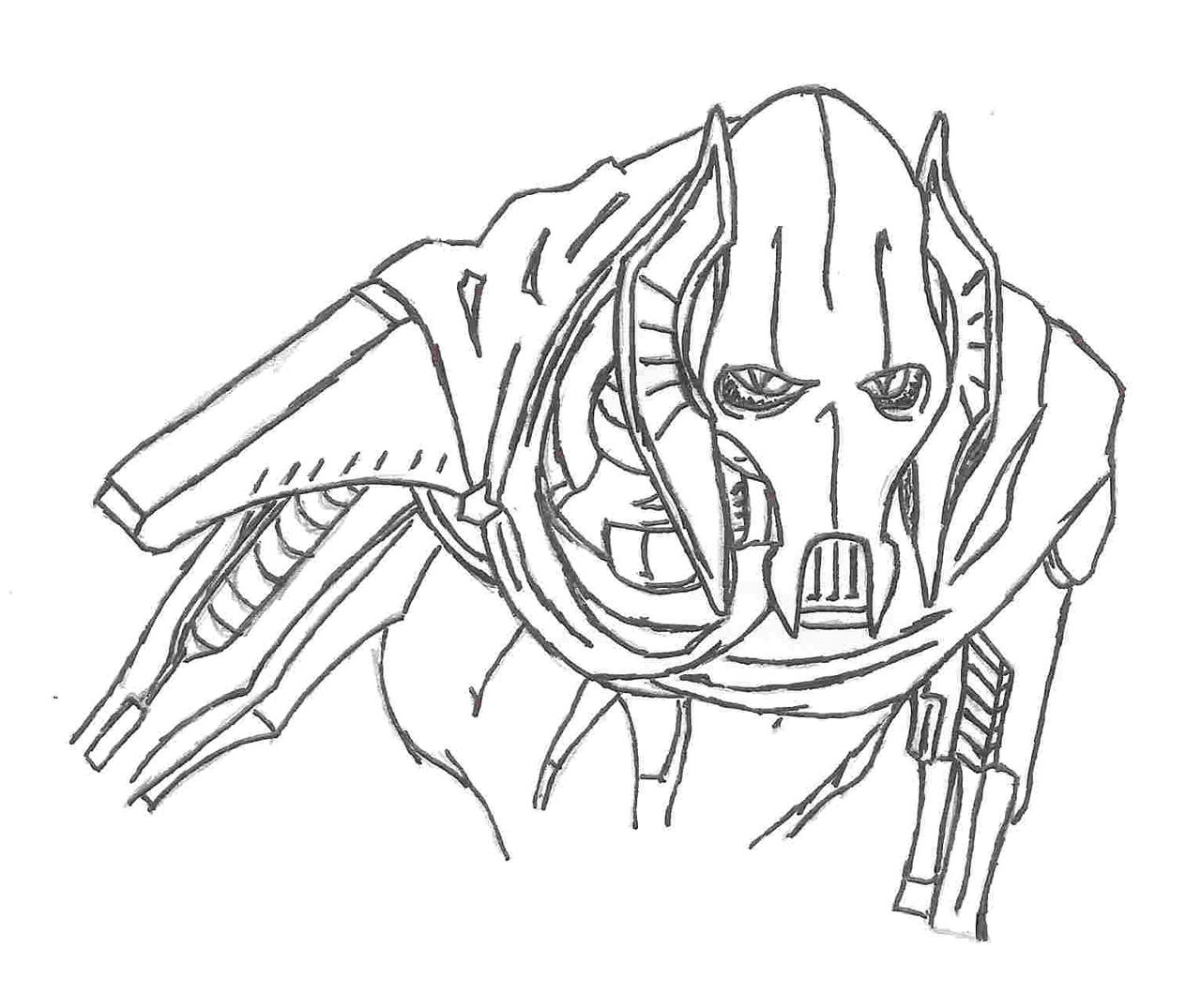 Angry birds general grievous coloring pages coloring pages for General grievous coloring page