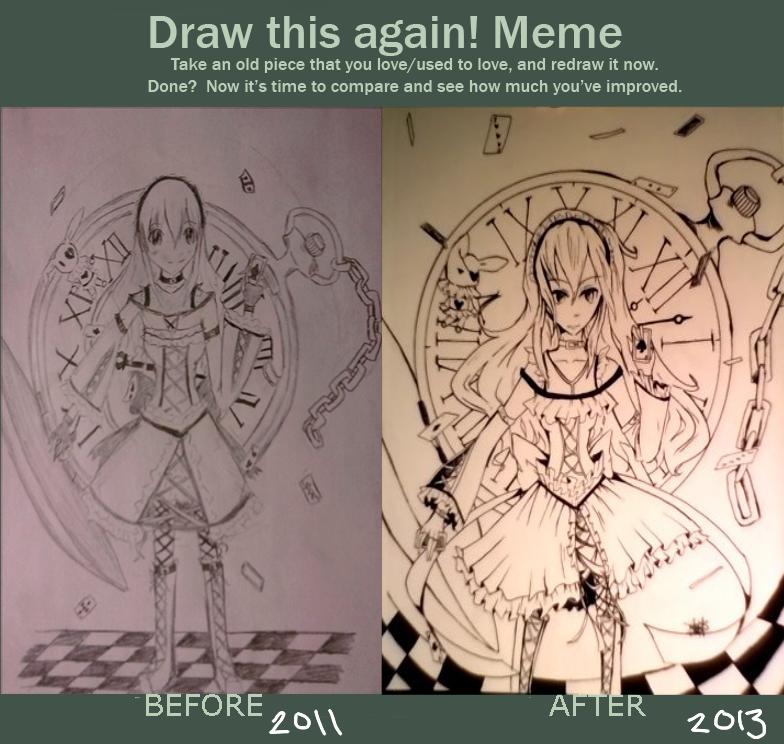 draw this again meme template - draw this again meme wonderland by hazeangel