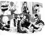 Universal Monsters Conglomeration sketch!