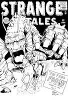 Strange tales 89 Reimagined! (Inked) by frankdawsonjr