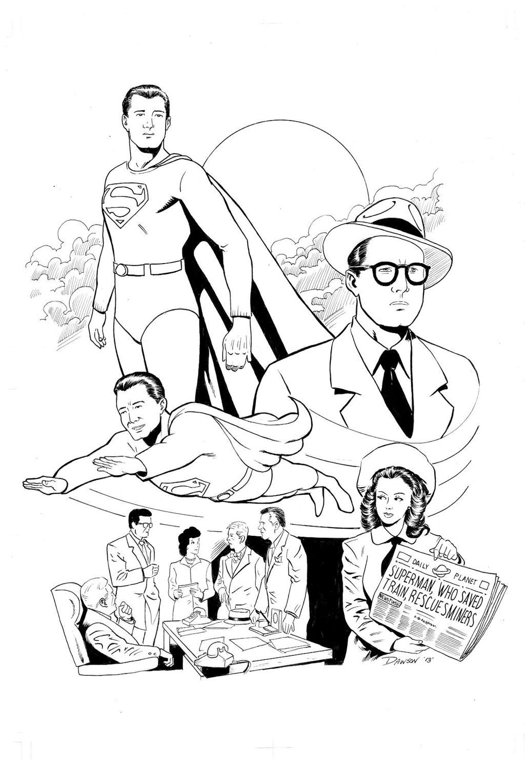 George Reeves Adventures Of Superman tribute. by frankdawsonjr