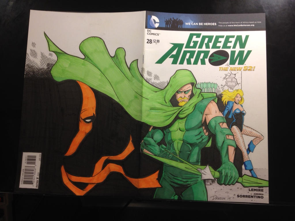 Green Arrow Sketch Cover! by frankdawsonjr