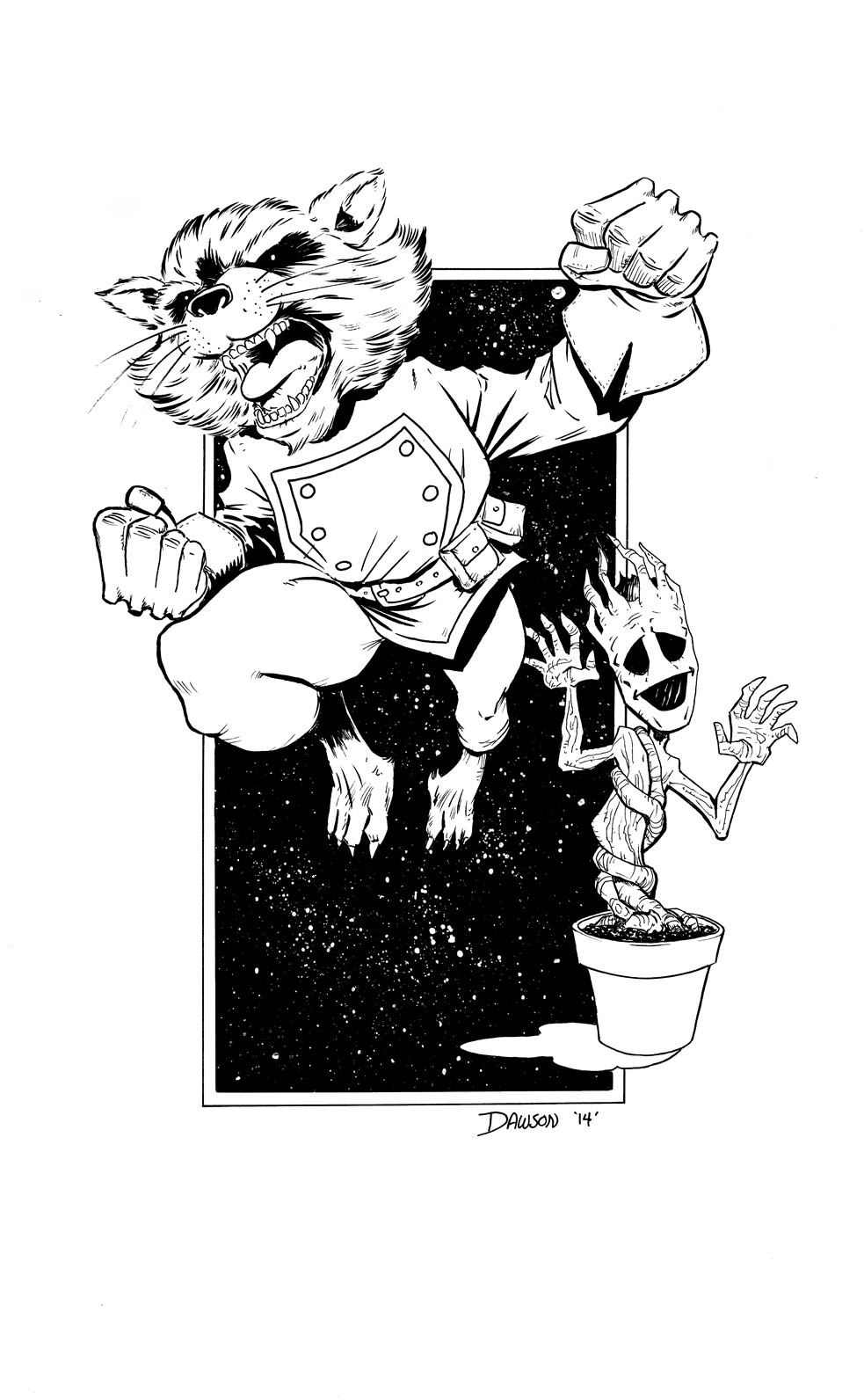 Rocket Raccoon and Baby Groot! by frankdawsonjr on DeviantArt