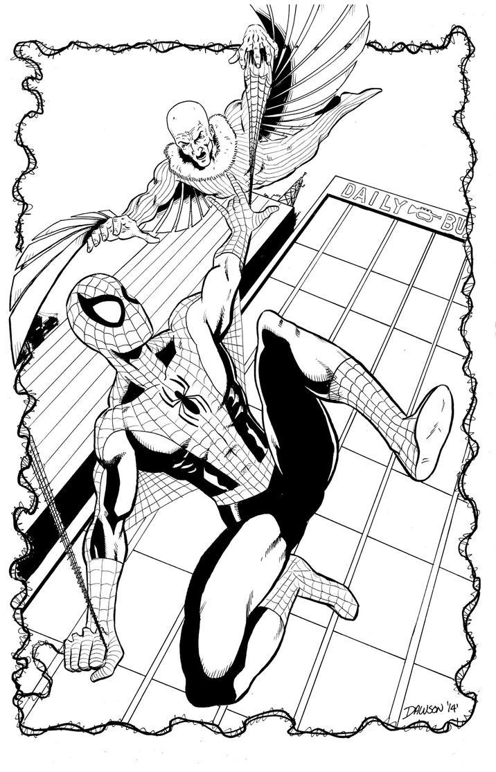 Spider-man Vs. The Vulture! by frankdawsonjr
