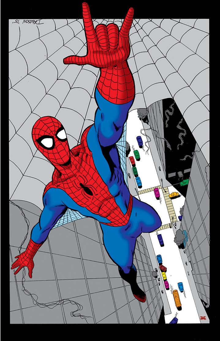 Spider-Man, High above. Colored by Matt Webb! by frankdawsonjr