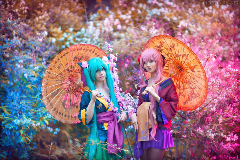 Megurine Luka, Hatsune Miku (Project Diva ) by Faid-Eyren