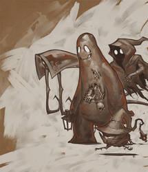 More monsters (rear jacket) by BoyFugly