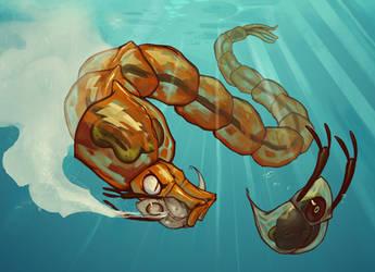 Glassworm v s Daphnia by BoyFugly