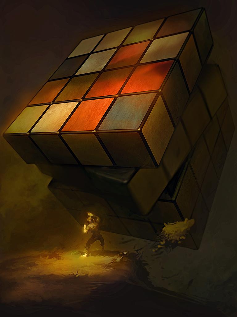 Rubik's Revenge by bopchara
