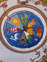 Wheel of the Year - detail