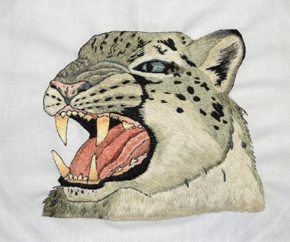 Hand Embroidery: Roar of the North by randomproxy