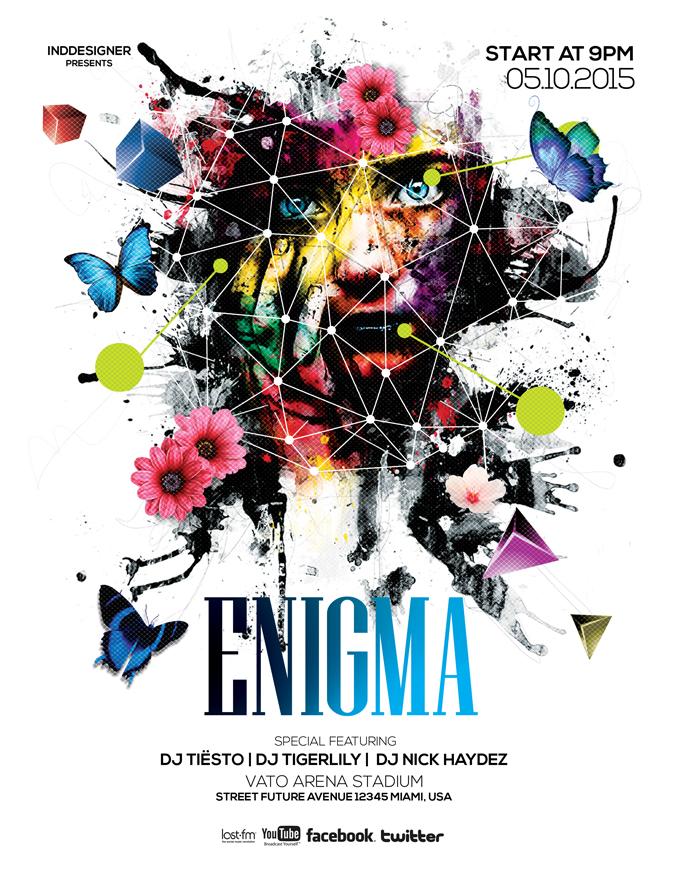 Enigma Flyer by inddesigner