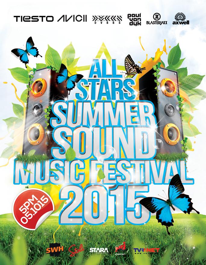 Summer Sound Music Festival Flyer by inddesigner
