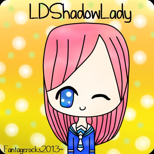 LDShadowLady (Lizzie)  Fan Art by fantagerocks2013