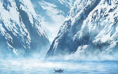 Cold Winter Fjord
