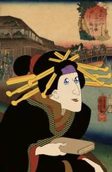Kabuki actor in the role of omek... Manga