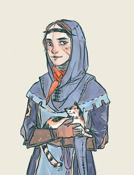 medieval self-portrait