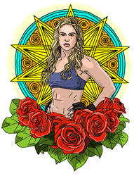 Ronda Rousey with Roses